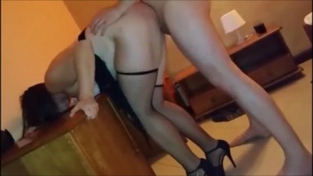 Fat woman howls from orgasms