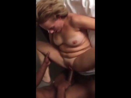 Mature immediately cums from a black cock